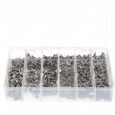 Krabička se 292 šrouby se šestihrannou hlavou + matice M8-M10-M12 nerez A2 Din 933