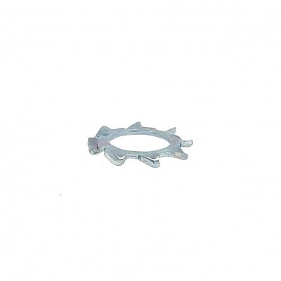 Ozubená podložka ocel pozinkovaná bílá Din 6797A